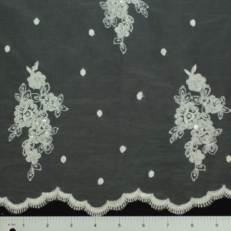 Double Scallop #84291BP Ivory - NY Fashion Center Fabrics