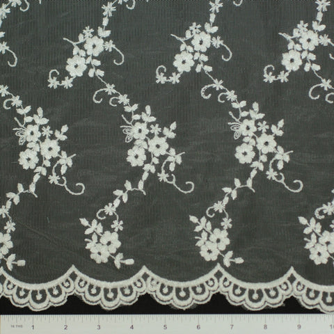 Double Scallop #20259W Ivory - NY Fashion Center Fabrics