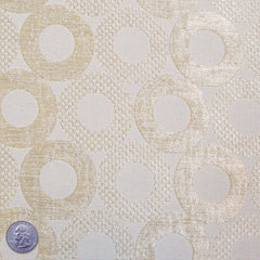 Poly/Rayon Blend Chenille Upholstery Jacquard Ivory
