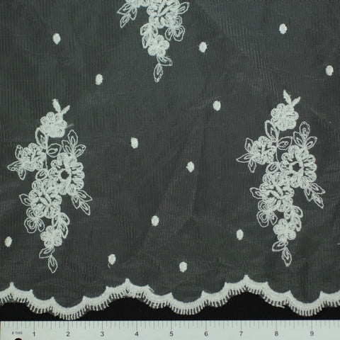 Double Scallop #95302W Ivory - NY Fashion Center Fabrics