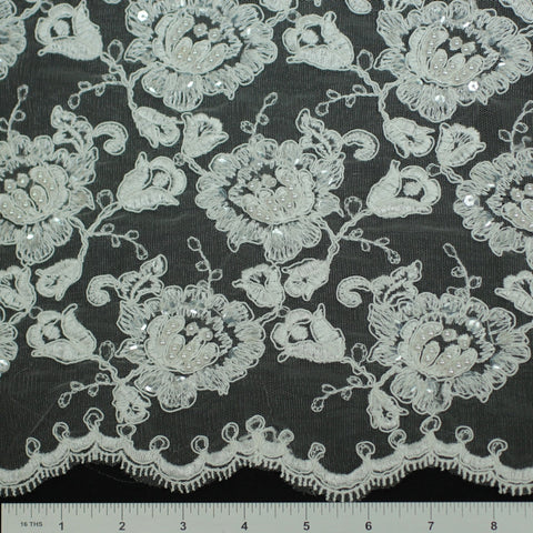 Double Scallop #84052BP Ivory - NY Fashion Center Fabrics