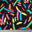Finger Paint Print Spandex JK 1412 Multi Black - NY Fashion Center Fabrics