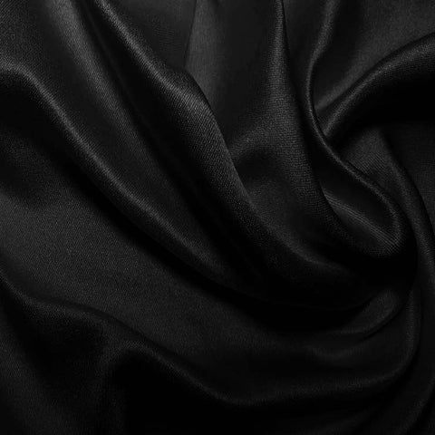 Silk Double Face Satin Jet Black