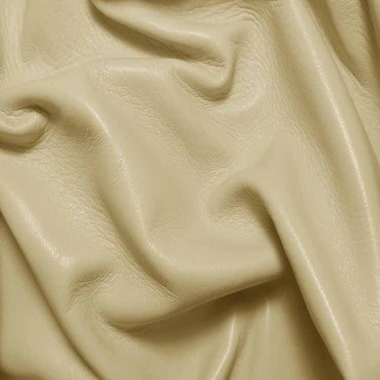 Drum Dyed Lamb Nappa Leather L302 Eggshell - NY Fashion Center Fabrics