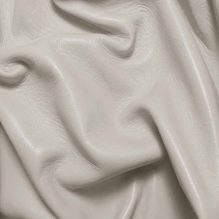 Drum Dyed Lamb Nappa Leather L303 Off White - NY Fashion Center Fabrics