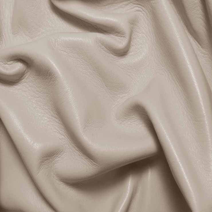 Drum Dyed Lamb Nappa Leather L304 Bone - NY Fashion Center Fabrics