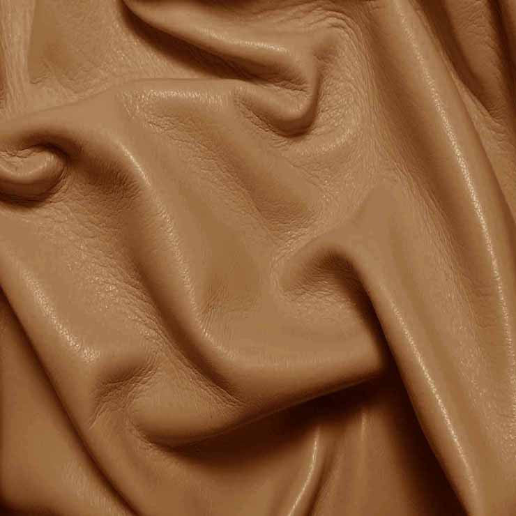 Drum Dyed Lamb Nappa Leather L308 Peanut - NY Fashion Center Fabrics