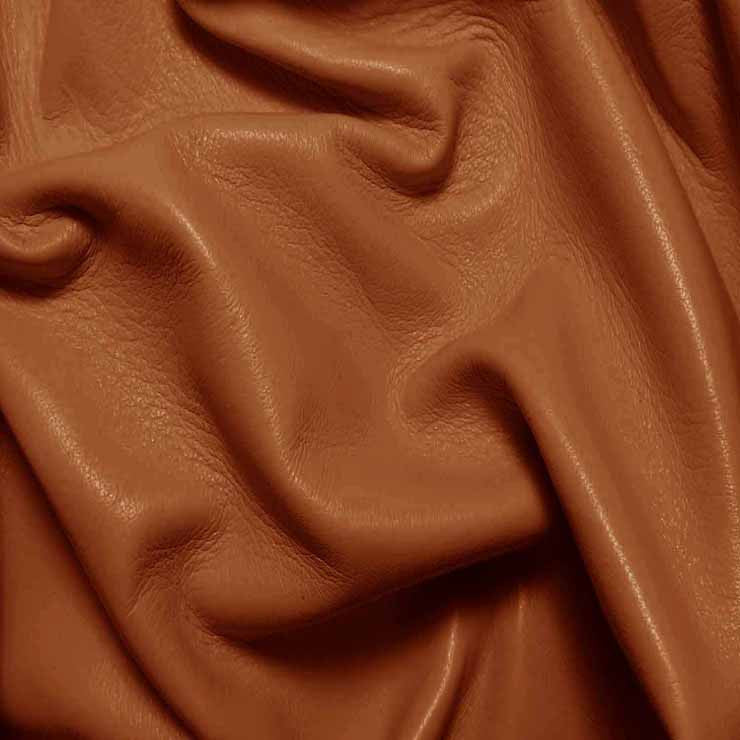 Drum Dyed Lamb Nappa Leather L311 British Tan - NY Fashion Center Fabrics
