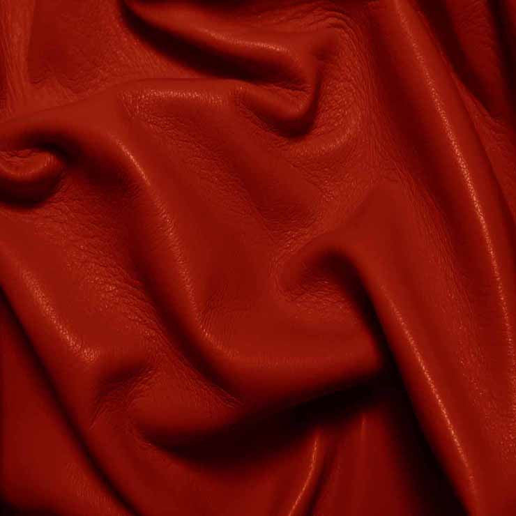 Drum Dyed Lamb Nappa Leather L315 Red - NY Fashion Center Fabrics