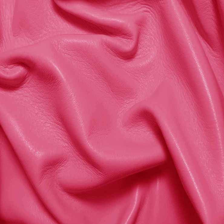 Drum Dyed Lamb Nappa Leather L318 Hotpink - NY Fashion Center Fabrics