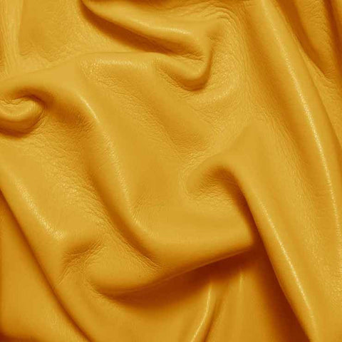 Drum Dyed Lamb Nappa Leather L320 Yellow - NY Fashion Center Fabrics