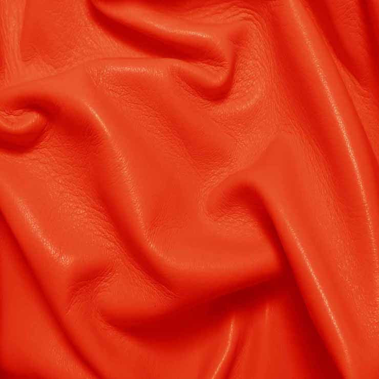 Drum Dyed Lamb Nappa Leather L321 Orange - NY Fashion Center Fabrics