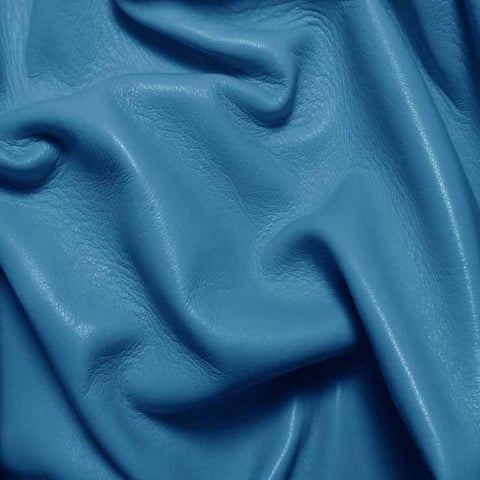 Drum Dyed Lamb Nappa Leather L324 Turquoise - NY Fashion Center Fabrics