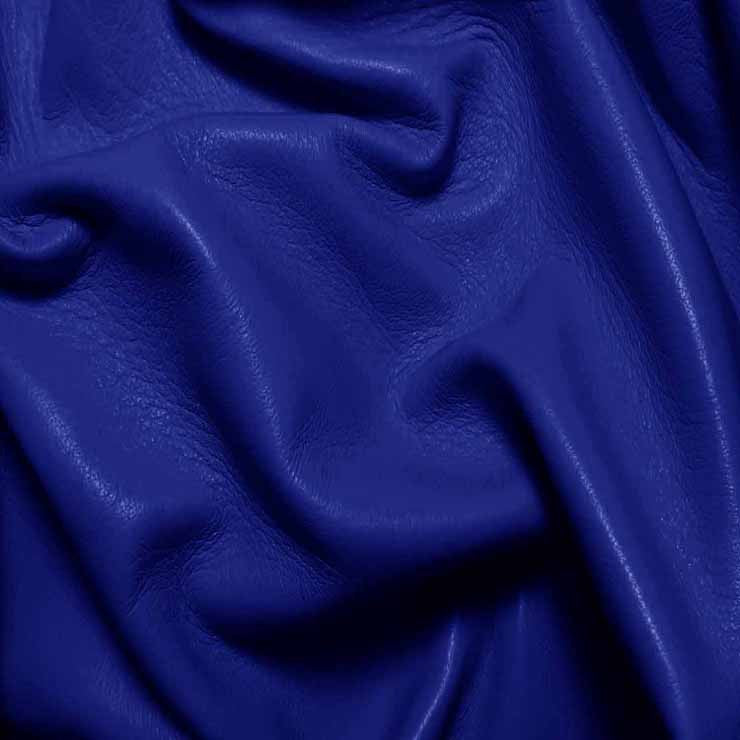 Drum Dyed Lamb Nappa Leather L325 Royal Blue - NY Fashion Center Fabrics