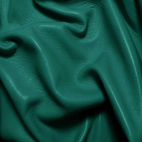 Drum Dyed Lamb Nappa Leather L326 Teal - NY Fashion Center Fabrics