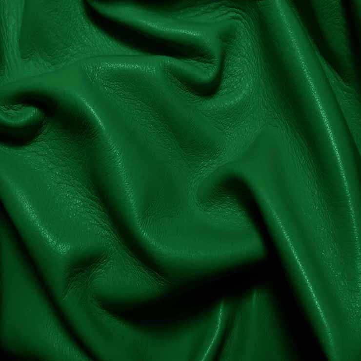 Drum Dyed Lamb Nappa Leather L327 Kelly Green - NY Fashion Center Fabrics