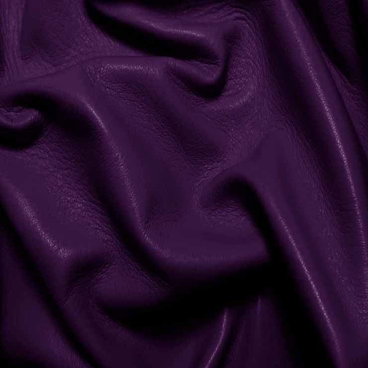 Drum Dyed Lamb Nappa Leather L330 RoyalPurple - NY Fashion Center Fabrics