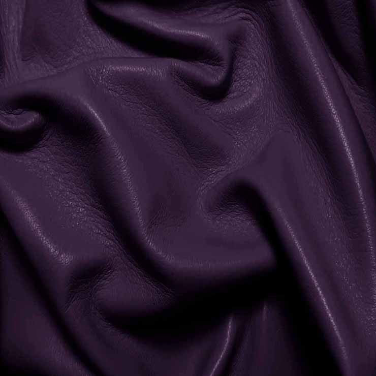Drum Dyed Lamb Nappa Leather L331 Purple - NY Fashion Center Fabrics