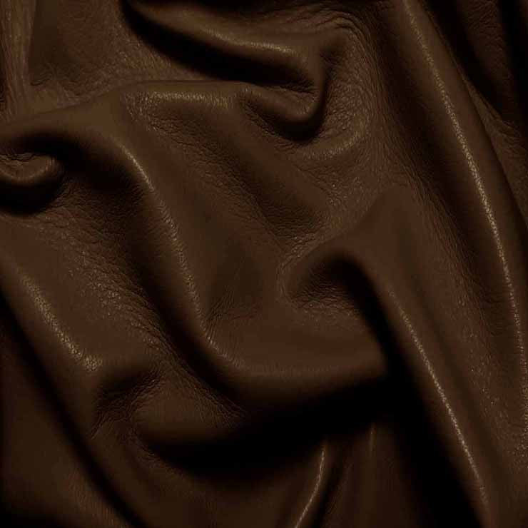 Drum Dyed Lamb Nappa Leather L335 Chocolate - NY Fashion Center Fabrics
