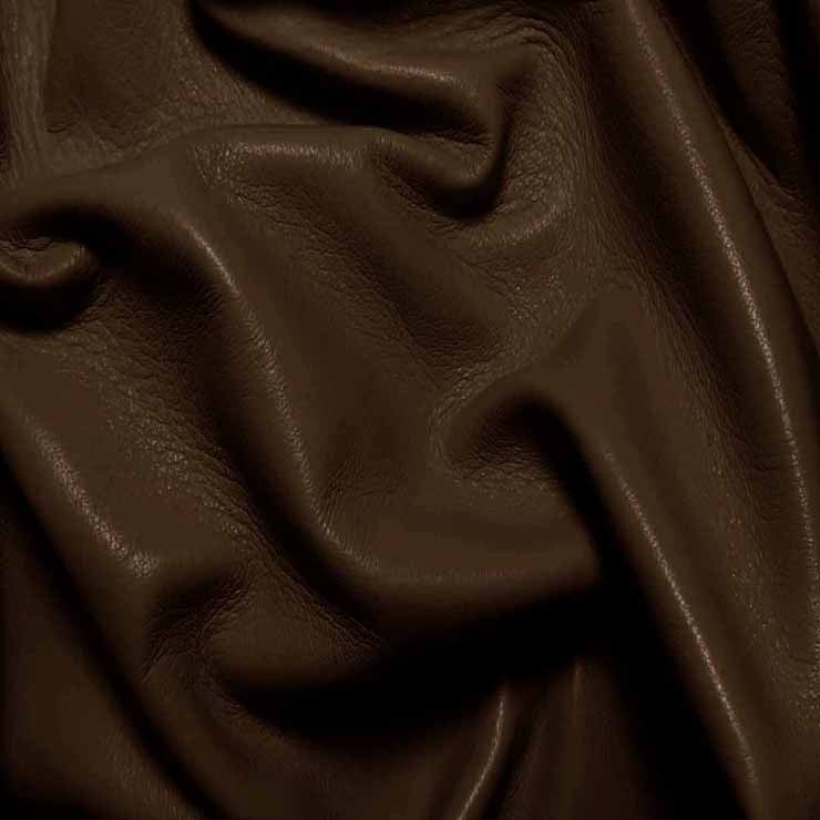 Drum Dyed Lamb Nappa Leather L336 Espresso - NY Fashion Center Fabrics