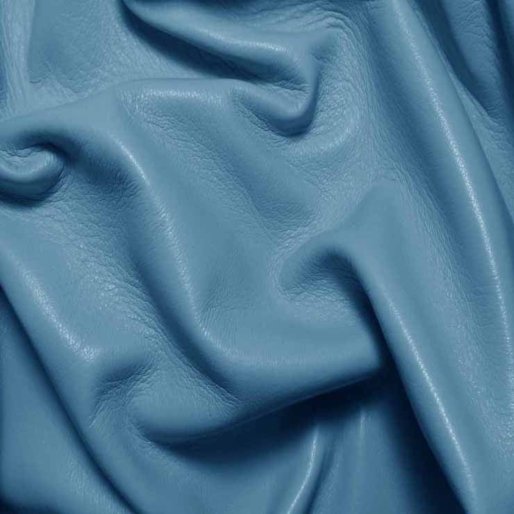 Drum Dyed Lamb Nappa Leather L352 Sky Blue - NY Fashion Center Fabrics