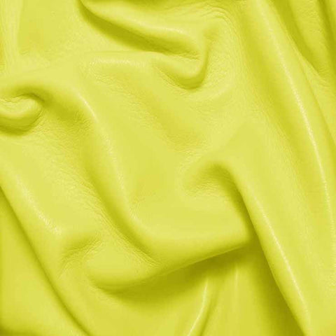 Drum Dyed Lamb Nappa Leather L358 Citrus - NY Fashion Center Fabrics