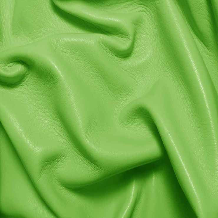 Drum Dyed Lamb Nappa Leather L361 Lime - NY Fashion Center Fabrics