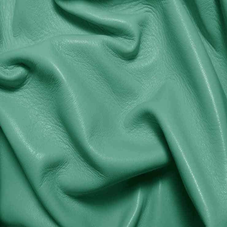 Drum Dyed Lamb Nappa Leather L365 Seafoam - NY Fashion Center Fabrics