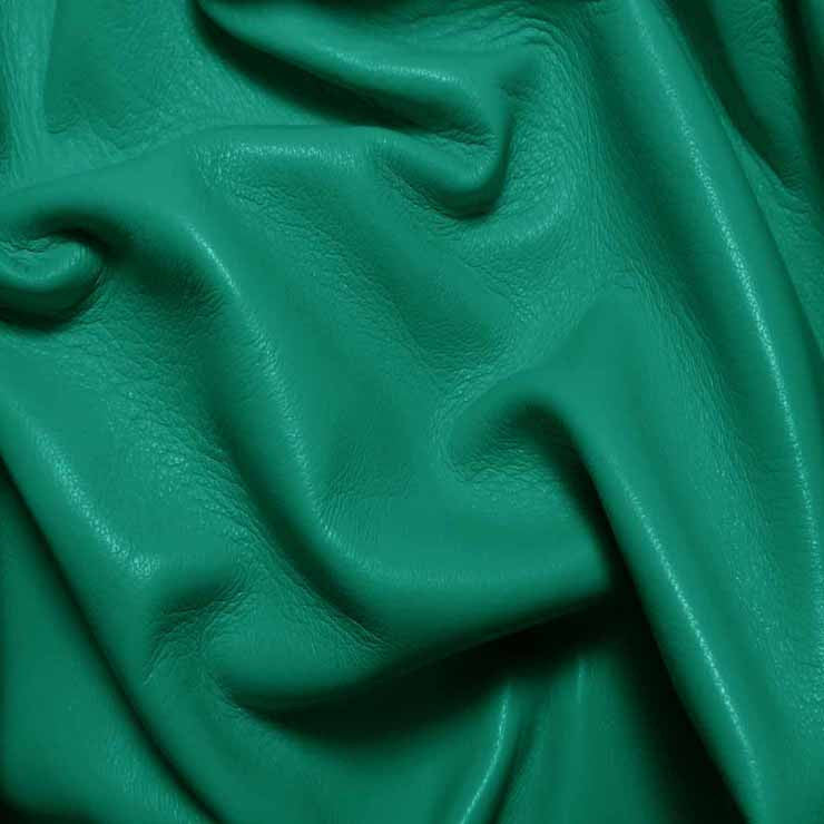 Drum Dyed Lamb Nappa Leather L366 Aquamarine - NY Fashion Center Fabrics