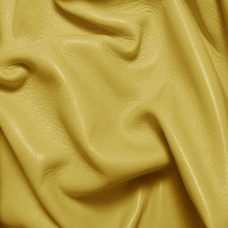Drum Dyed Lamb Nappa Leather L368 Lemon - NY Fashion Center Fabrics