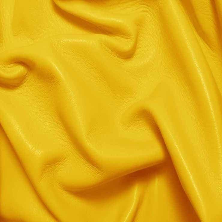 Drum Dyed Lamb Nappa Leather L369 Sun Yellow - NY Fashion Center Fabrics