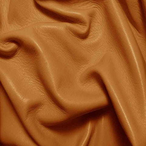 Drum Dyed Lamb Nappa Leather L373 Tangerine - NY Fashion Center Fabrics