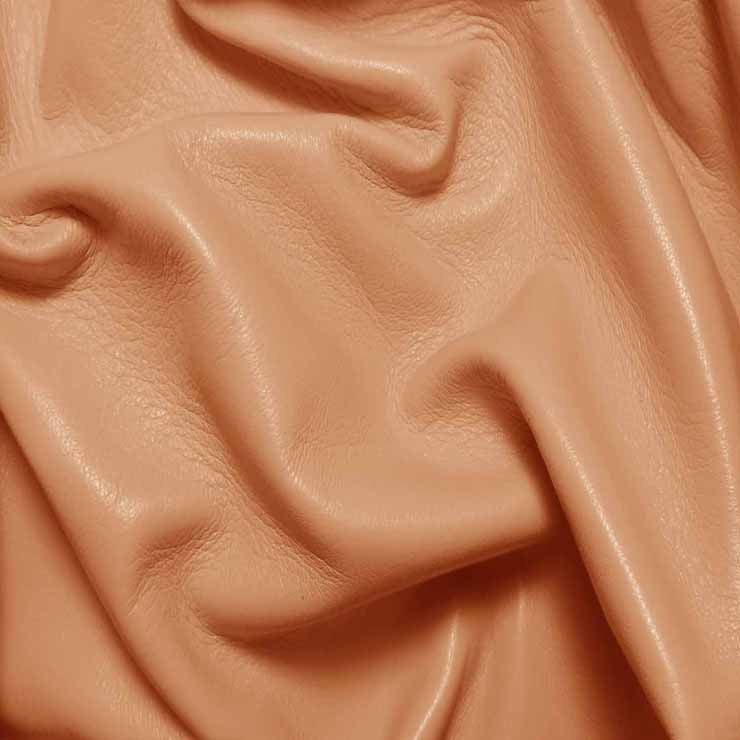 Drum Dyed Lamb Nappa Leather L374 Salmon - NY Fashion Center Fabrics