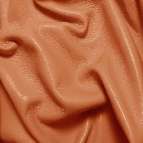Drum Dyed Lamb Nappa Leather L375 Peach - NY Fashion Center Fabrics