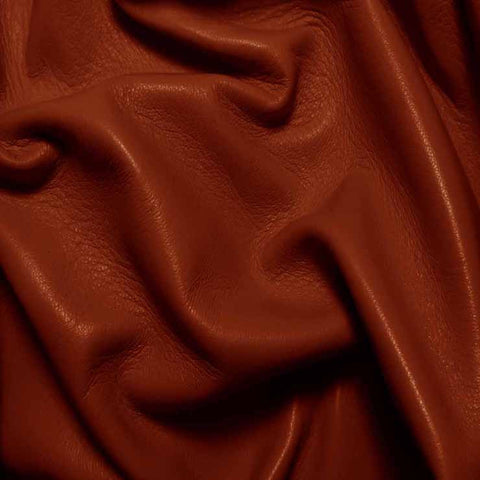 Drum Dyed Lamb Nappa Leather L377 Brick - NY Fashion Center Fabrics