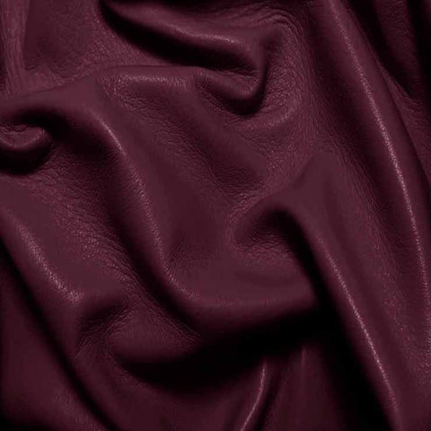 Drum Dyed Lamb Nappa Leather L382 Grape - NY Fashion Center Fabrics