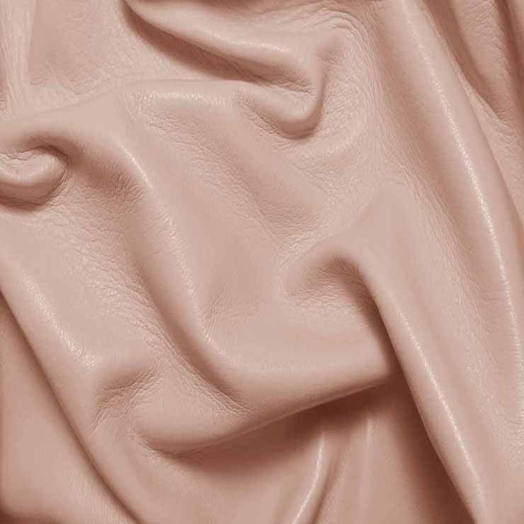 Drum Dyed Lamb Nappa Leather L383 PalePink - NY Fashion Center Fabrics