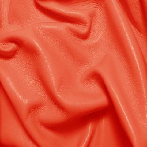 Drum Dyed Lamb Nappa Leather L386 Coral - NY Fashion Center Fabrics