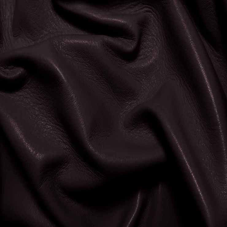 Drum Dyed Lamb Nappa Leather L388 DarkPurple - NY Fashion Center Fabrics