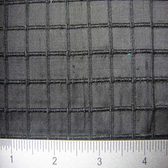 Silk Embroidered Grid Shantung LA06
