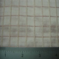 Silk Embroidered Grid Shantung LA09