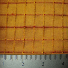 Silk Embroidered Grid Shantung LA21