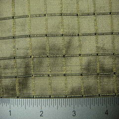 Silk Embroidered Grid Shantung LA27