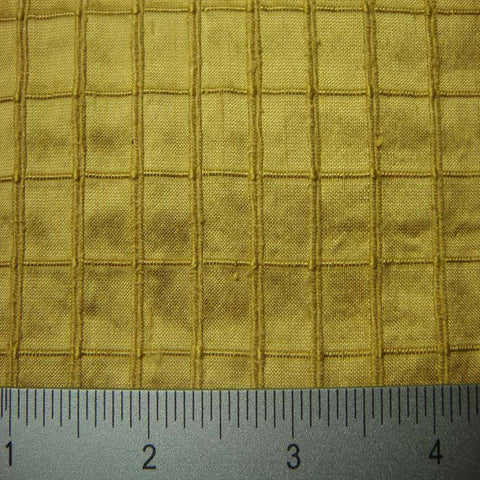 Silk Embroidered Grid Shantung LA28
