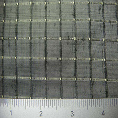 Silk Embroidered Grid Shantung LA29