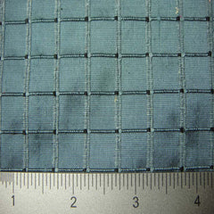 Silk Embroidered Grid Shantung LA31