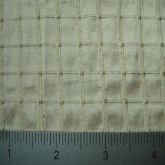 Silk Embroidered Grid Shantung LA36