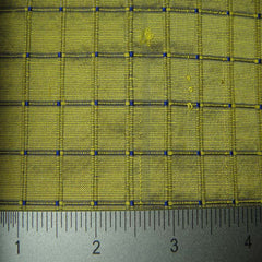Silk Embroidered Grid Shantung LA40