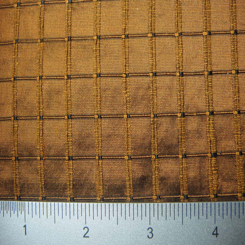 Silk Embroidered Grid Shantung LA42