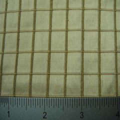 Silk Embroidered Grid Shantung LA44